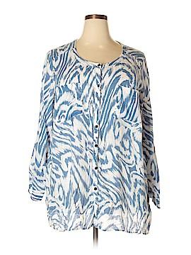 JM Collection Long Sleeve Blouse Size 22 (Plus)