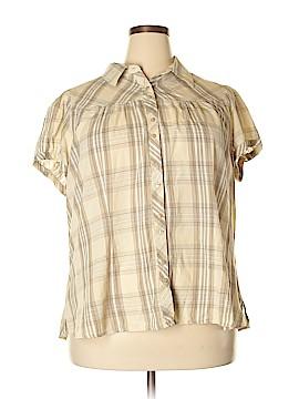 St. John's Bay Short Sleeve Button-Down Shirt Size 2X (Plus)