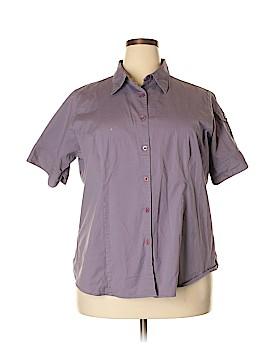 Venezia Short Sleeve Button-Down Shirt Size 22 (Plus)