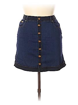 Inc Denim Denim Skirt Size 12 (Petite)