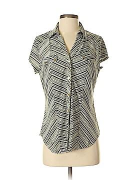 Roz & Ali Short Sleeve Blouse Size M