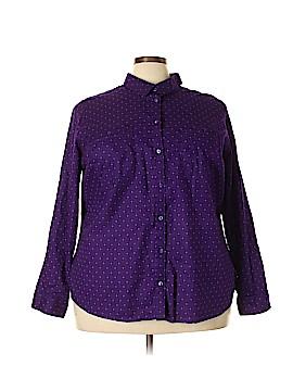 St. John's Bay Long Sleeve Button-Down Shirt Size 3X (Plus)