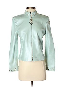 St. John Sport Leather Jacket Size P