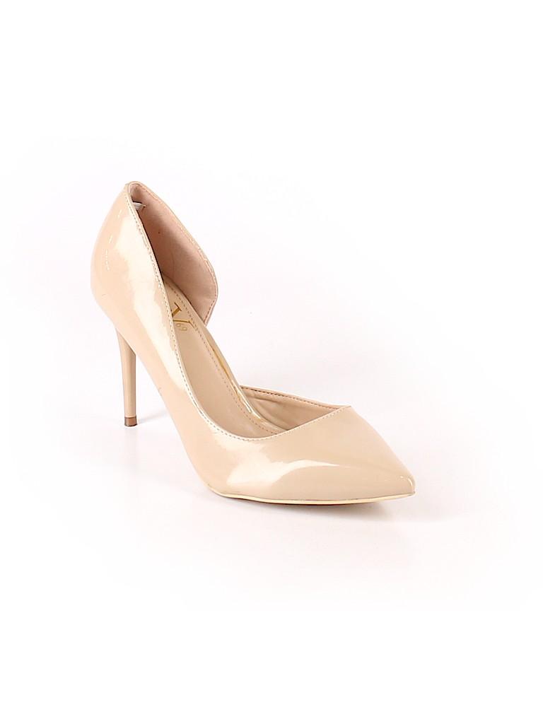 09aaf1d9e88 Versace 19.69 Abbigliamento Sportivo Solid Tan Heels Size 9 - 78 ...