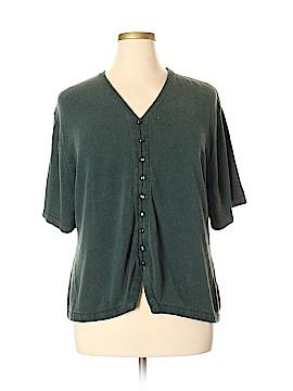 Sag Harbor Silk Cardigan Size 3X (Plus)