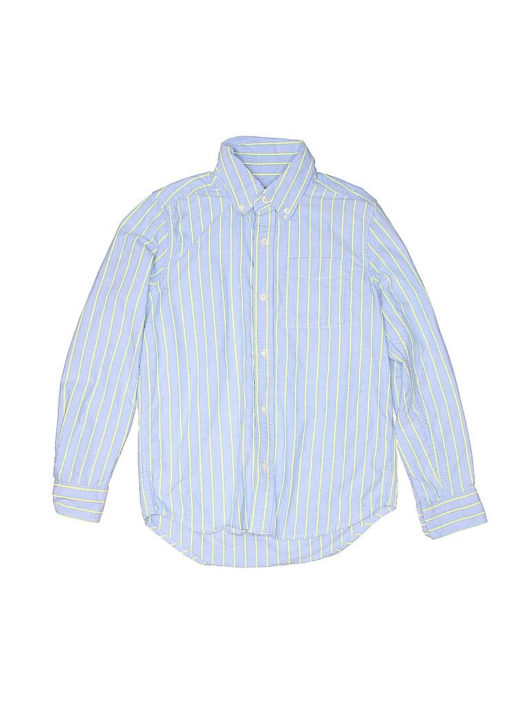 5c2a5153b The Children s Place 100% Cotton Stripes Blue Long Sleeve Button ...