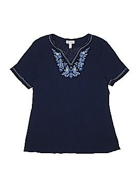 D&Co. Short Sleeve Blouse Size M