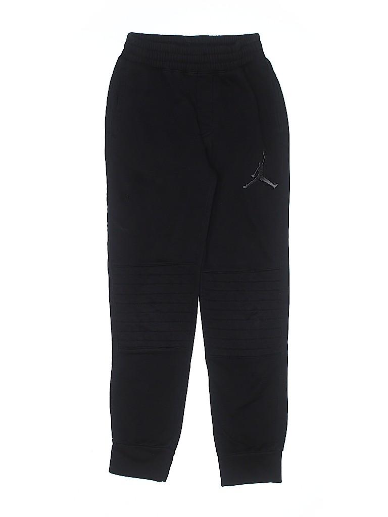 879d56784605f1 Air Jordan Solid Black Sweatpants Size 10 - 50% off