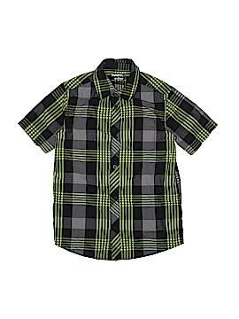 Hawk Short Sleeve Button-Down Shirt Size M (Kids)