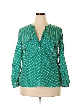 Antilia Femme Long Sleeve Blouse Size XL