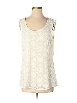 August Silk Sleeveless Blouse Size S