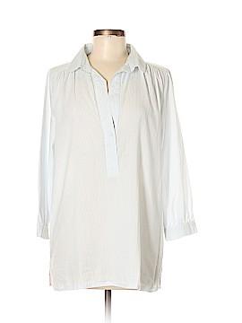 Lilla P 3/4 Sleeve Button-Down Shirt Size M