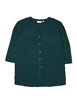 D&Co. 3/4 Sleeve Blouse Size XL