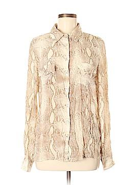 Neiman Marcus Long Sleeve Silk Top Size M