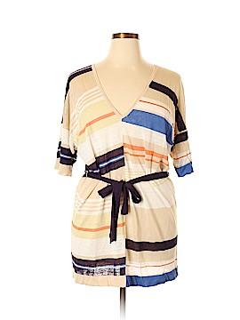 Moda International Short Sleeve Blouse Size 3X (Plus)