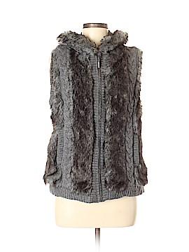 Green Tea Faux Fur Vest Size M