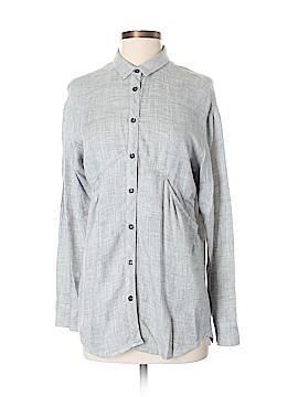 Mango Long Sleeve Button-Down Shirt Size 2