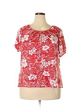 Cathy Daniels Short Sleeve Top Size 1X (Plus)
