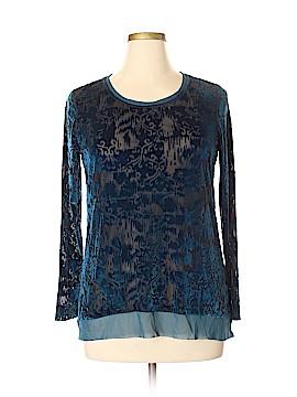 Simply Vera Vera Wang Long Sleeve Blouse Size XL (Petite)