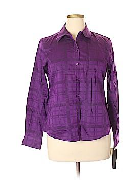 Foxcroft Long Sleeve Button-Down Shirt Size 16 (Petite)