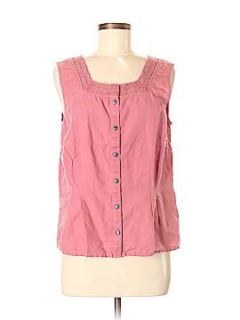 J.jill Sleeveless Button-Down Shirt Size M