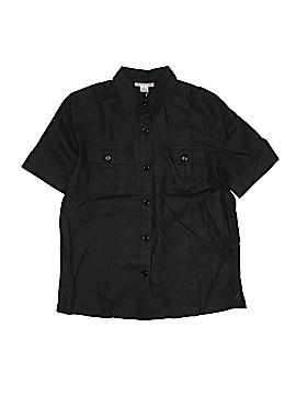 EVELYN & ARTHUR Short Sleeve Silk Top Size M