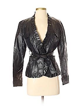 Solitaire Faux Leather Jacket Size S (Petite)