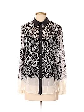 DKNY Long Sleeve Silk Top Size S