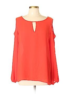 Rose & Olive Long Sleeve Blouse Size XL
