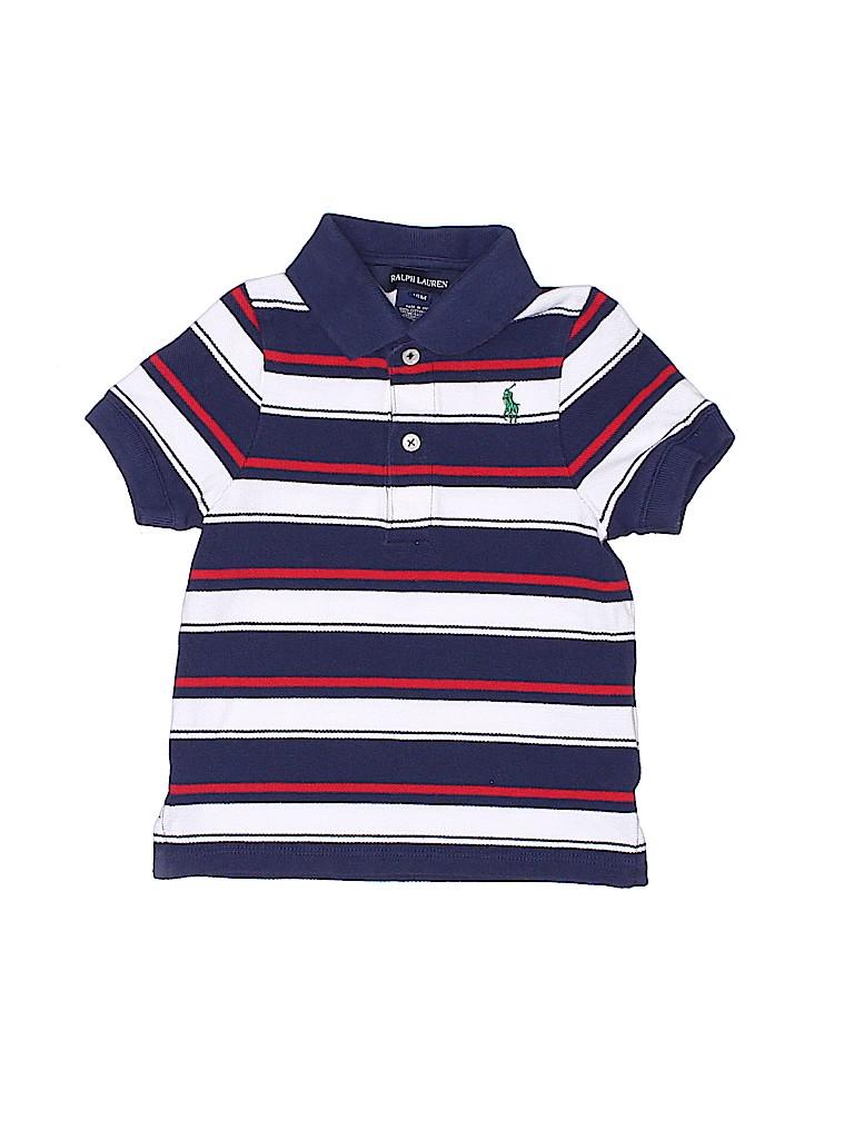 60fb24d59f8 Ralph Lauren 100% Cotton Stripes Navy Blue Short Sleeve Polo Size 18 ...