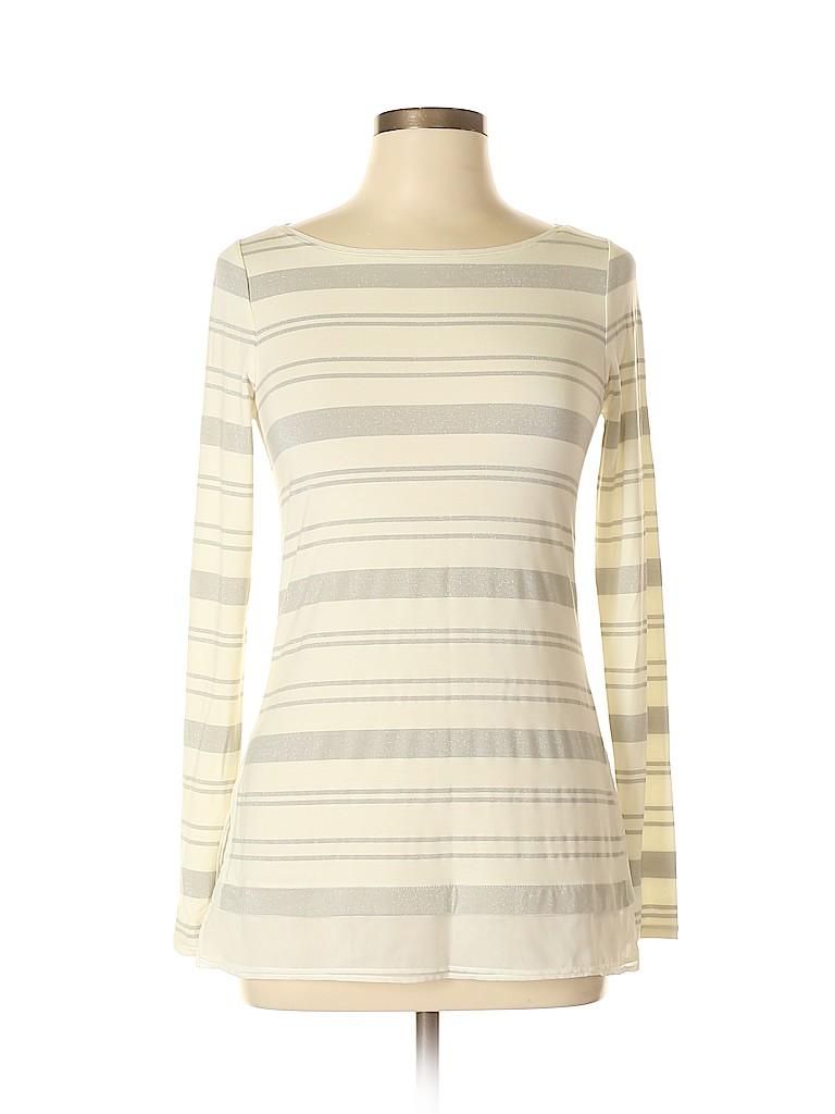 d9f21ef86e White House Black Market Stripes Ivory Long Sleeve Top Size XS - 64 ...