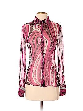 Tahari Long Sleeve Silk Top Size XS