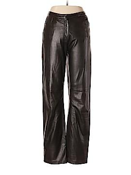 Giorgio Armani Classico Leather Pants Size 44 (IT)