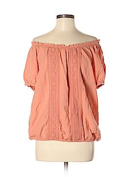 Vintage America Blues Short Sleeve Blouse Size L