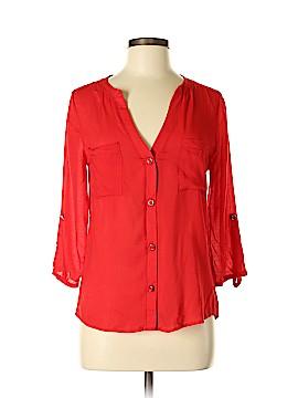 Francesca's 3/4 Sleeve Button-Down Shirt Size S