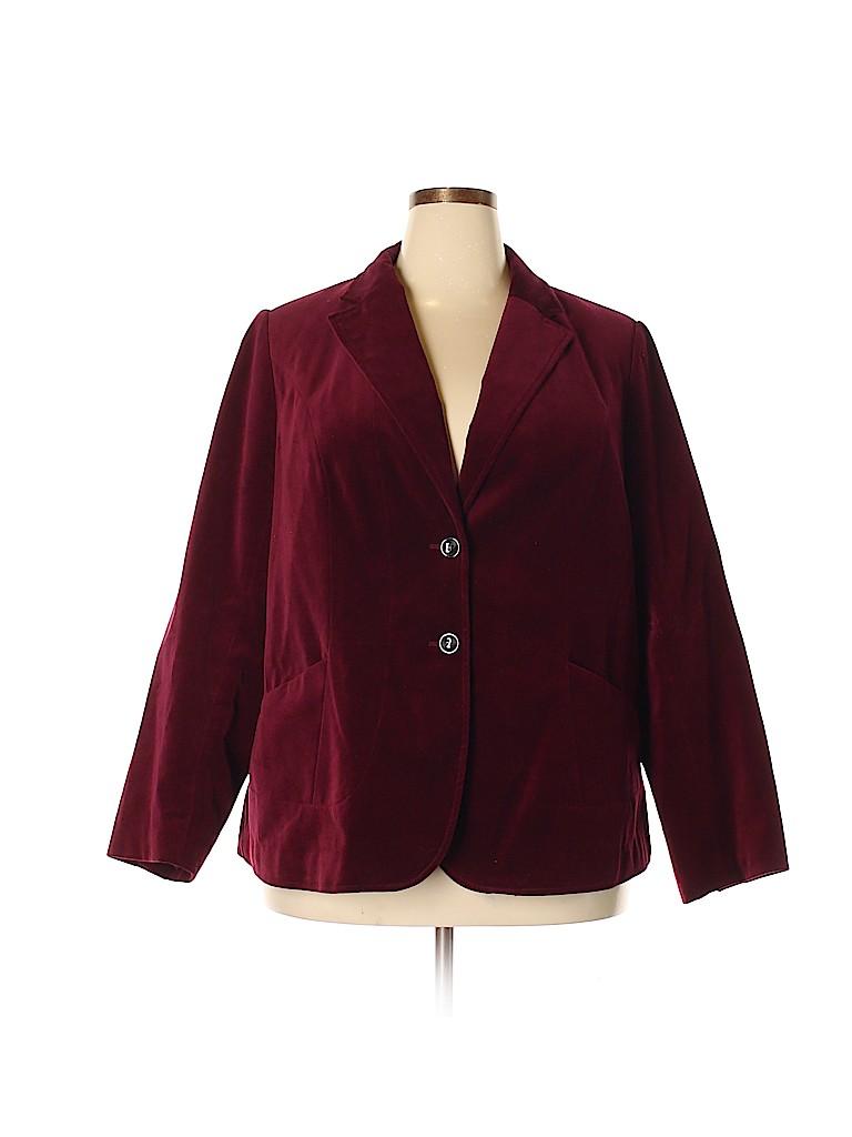 1b20fcbdcff Lane Bryant 100% Cotton Solid Pink Blazer One Size (Plus) - 71% off ...