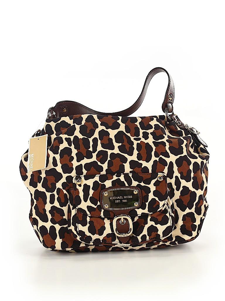 9dcc2d3c6213 MICHAEL Michael Kors Animal Print Brown Shoulder Bag One Size - 68 ...