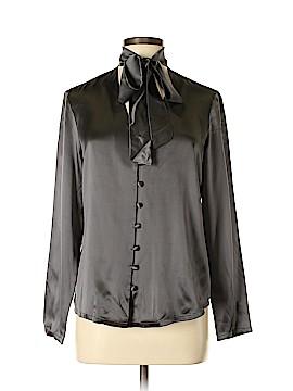 The J. Peterman Co. Long Sleeve Silk Top Size 8