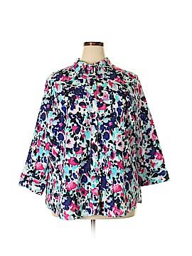 Alia 3/4 Sleeve Button-Down Shirt Size 22 (Plus)