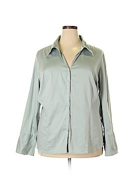 Lane Bryant Long Sleeve Button-Down Shirt Size 28 - 26 Plus (Plus)