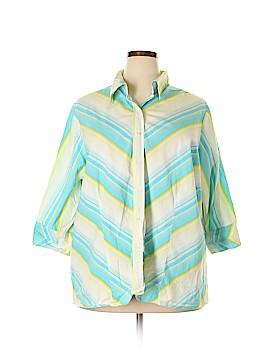 Lane Bryant 3/4 Sleeve Button-Down Shirt Size 28 - 26 Plus (Plus)