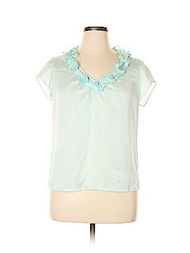 Talbots Short Sleeve Silk Top Size 14
