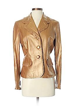 St. John Leather Jacket Size 4