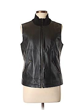 INC International Concepts Leather Jacket Size L
