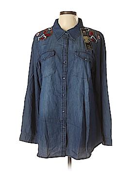 DG^2 by Diane Gilman Long Sleeve Button-Down Shirt Size XL