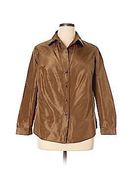 AKRIS Long Sleeve Blouse Size 18 (Plus)