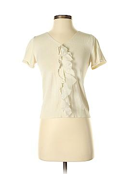 Coldwater Creek Short Sleeve Silk Top Size 2