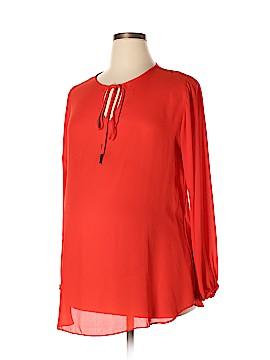 Olian Short Sleeve Blouse Size XL (Maternity)