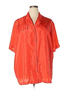 Venezia Short Sleeve Silk Top Size 18 - 20 Plus (Plus)