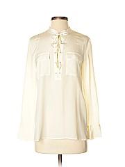 Madewell Women Long Sleeve Silk Top Size XS